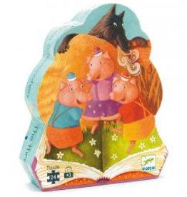 Djeco Djeco Silhuetten-Puzzle Die 3 kleinen Schweinchen bei Pilzessin