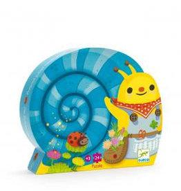 Djeco Djeco Silhouetten-Puzzle Schnecke bei Pilzessin