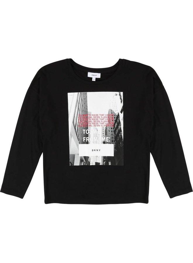 Langarm T-Shirt mit Print von DKNY bei Pilzessin