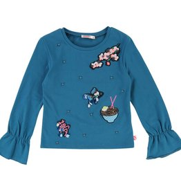 BILLIEBLUSH Langarm T-Shirt mit Rüschen von Billieblush bei Pilzessin