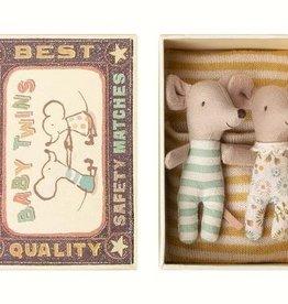 Maileg Baby mice, Twins in box von Maileg bei Pilzessin