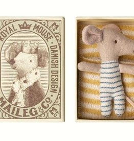 Maileg Baby mouse, sleepy/wakey in box-Boy
