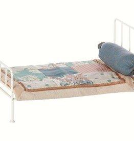 Maileg Metall bed mini, offwhite