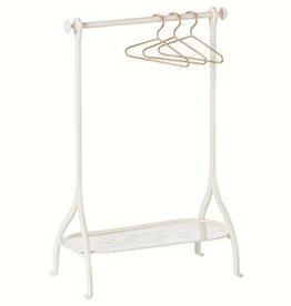 Maileg Clothes Rack off white incl 3 gold hangers