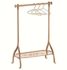 Maileg Clothes Rack gold incl 3 gold hangers