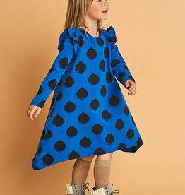 Drops on Blue Frilled Ew Dress