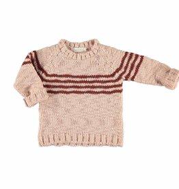 Knitted sweater Pink and brick stripes von Piupiuchick bei Pilzessin