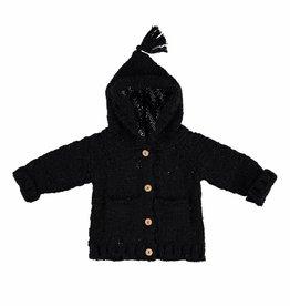 Knitted hooded jacket black von Piupiuchick bei Pilzessin