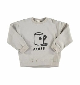 Sweatshirt grey with pause von Piupiuchick bei Pilzessin