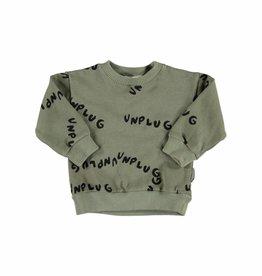 Sweatshirt unplug allover khaki carded von Piupiuchick bei Pilzessin
