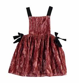 Piupiuchick Dungaree dress, strawberry velvet von Piupiuchick bei Pilzessin