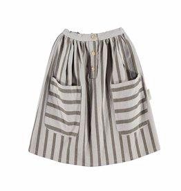 Piupiuchick Midi skirt. Grey stripes serge von Piupiuchick bei Pilzessin