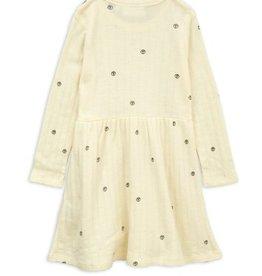 MINI RODINI Peace pointelle wool dress von Mini Rodini bei Pilzessin