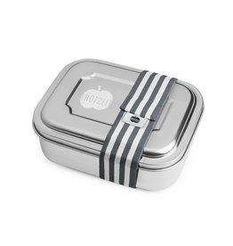 Brotzeit Brotzeit ZWEIER Lunchbox Streifen grau bei Pilzessin