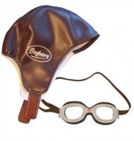 Baghera Rennfahrerkappe und Rennfahrerbrille im Vintage Stil von Baghera bei Pilzessin