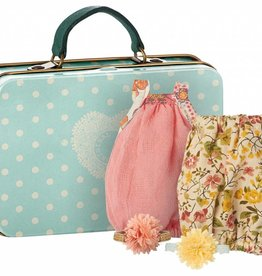 Maileg Micro, Suitcase with 2 Dresses for Girl