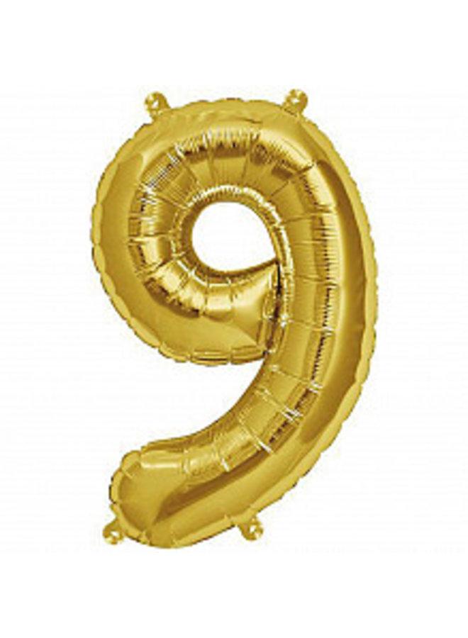 Folienballon gold Zahl