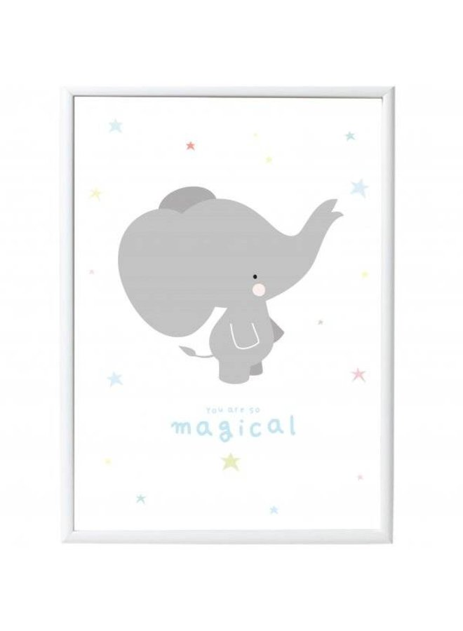Poster Elefant von a little lovely company