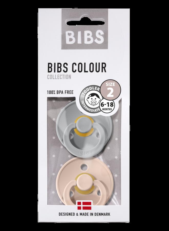 2er Bibs Cloud/Blush aus Naturkautschuk Size 2