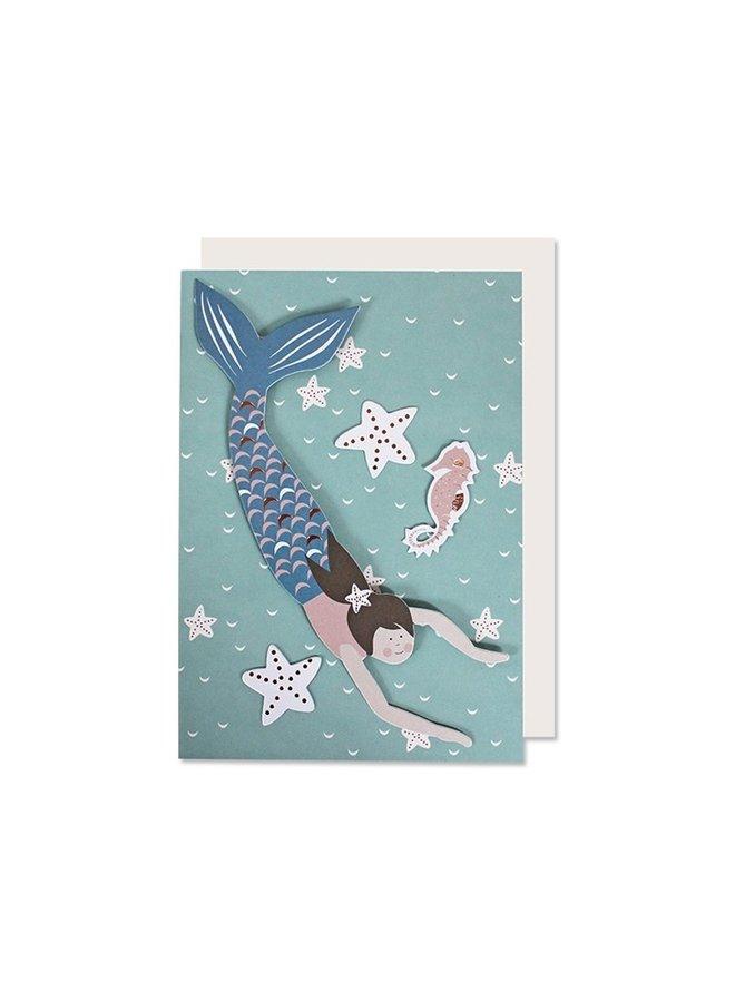 Klappkarte Meerjungfrau von Ava undYves