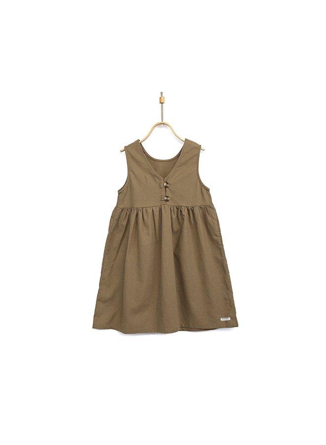 Donsje Lisa Dress Olive Grey