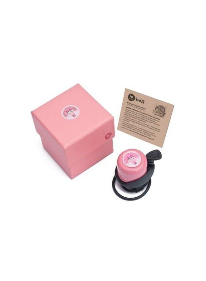 Laufradklingel von Wishbone pink
