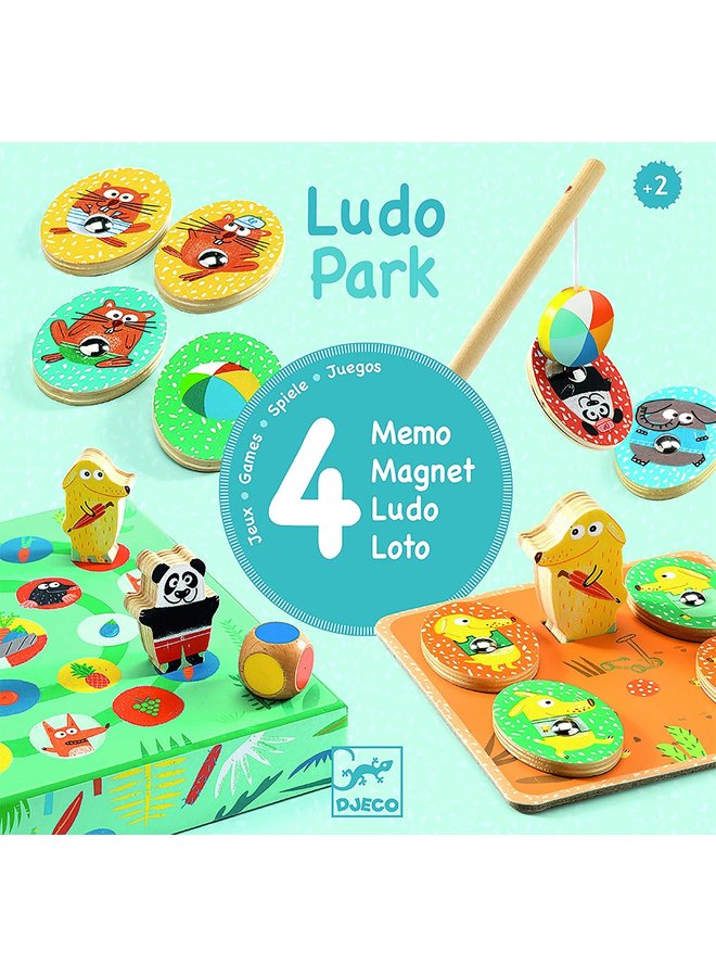 Djeco LudoPark - 4 games Lernspiel