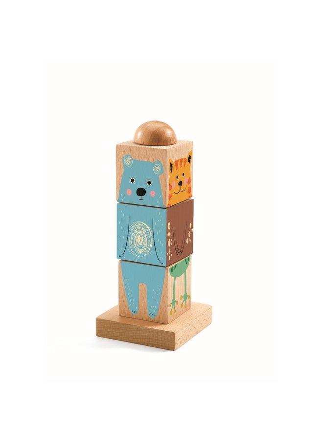 Holzpuzzle Twistizz für Kleinkinder von Djeco