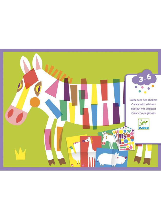 Djeco Sticker - Die großen Tiere