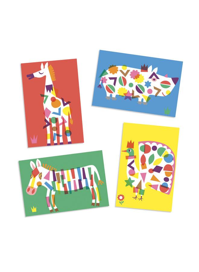 Große Tiere mit Sticker verzieren von Djeco