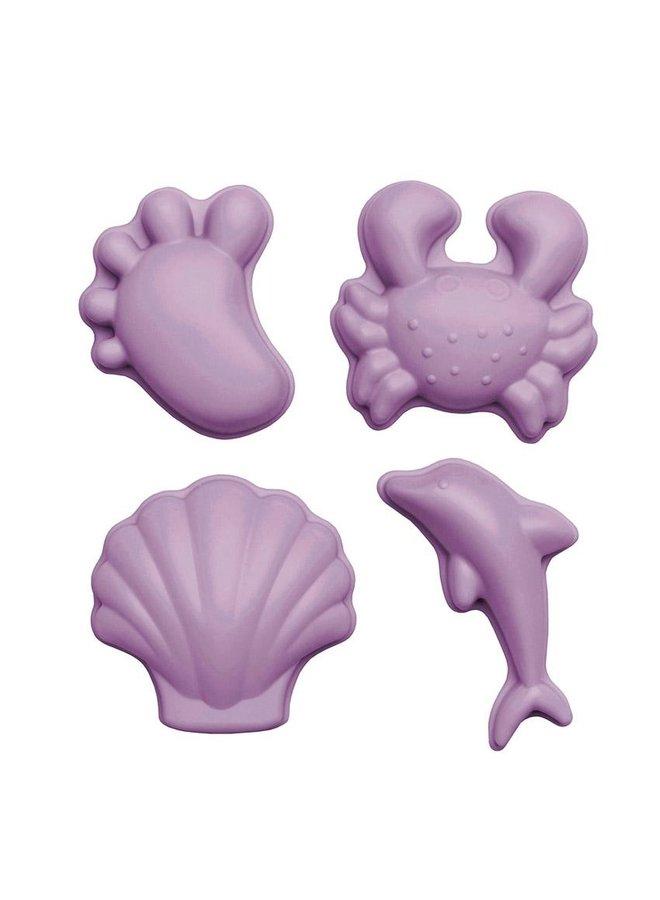 Sandformen 4er Set lila von Scrunch