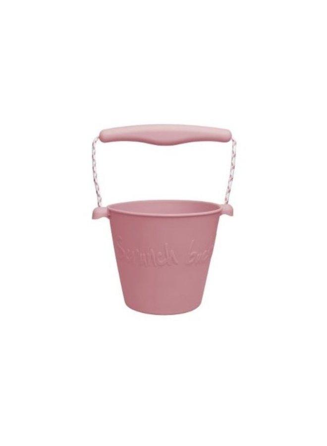Faltbarer Silikonkübel von Scrunch in rose