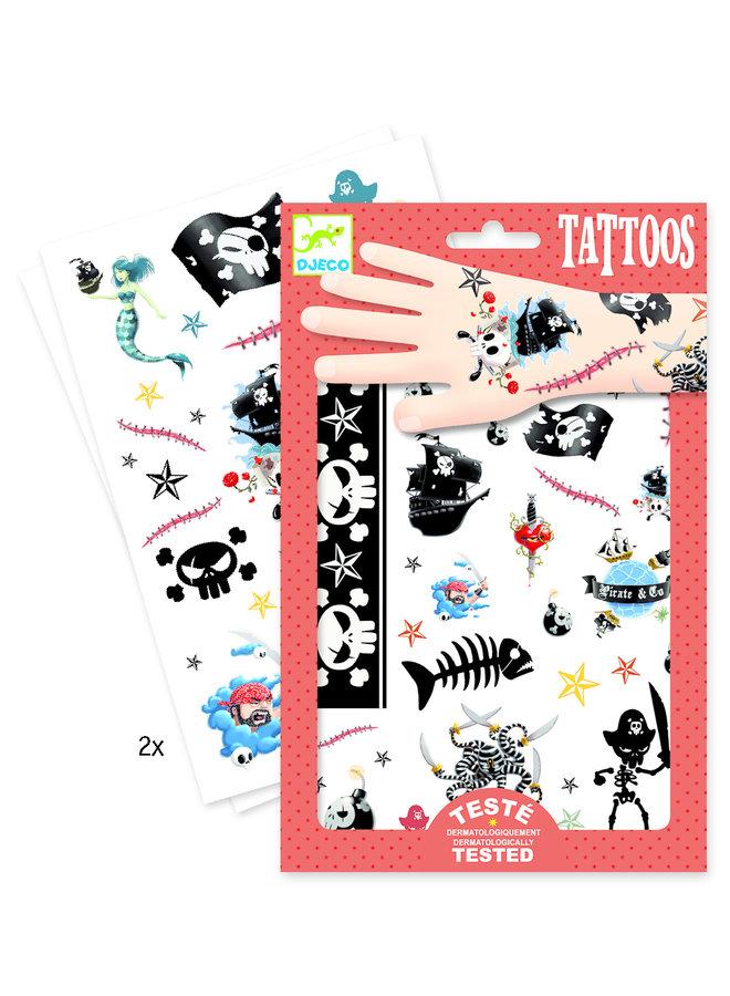 Piraten Tattoos von Djeco