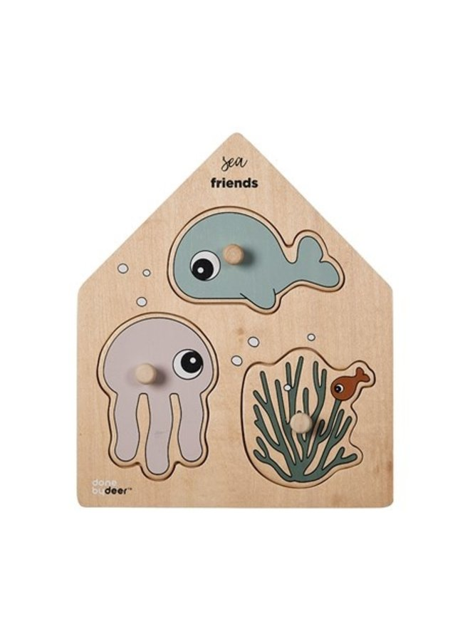 Peg Play Puzzle Sea Friends Multi Done by Deer  - Copy