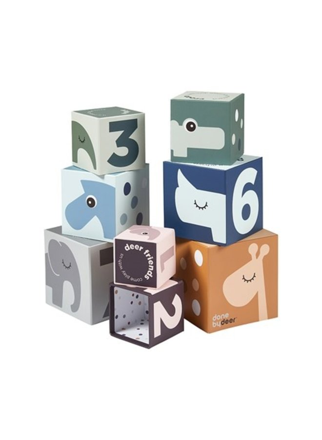 Stacking Cubes Deer Friends Multicolor