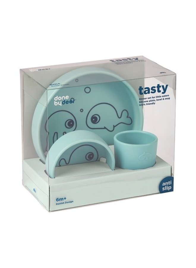 Silicone dinner set sea friends blue Done by deer