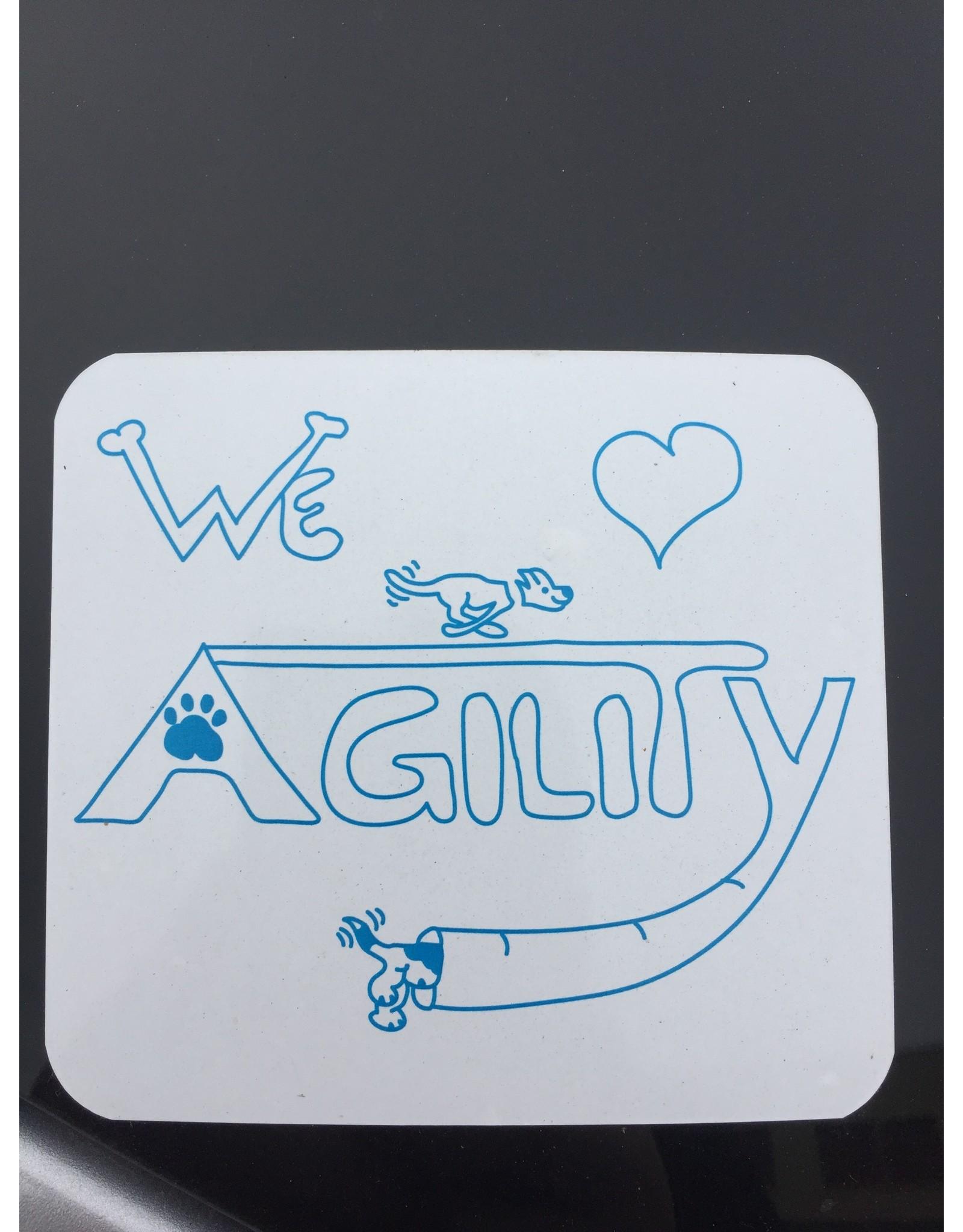 Aufkleber We Love Agility