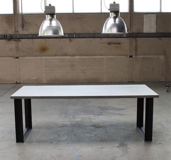 Concrete Table Denver 160x100cm & Concrete Table Denver 160x100cm (dinner table / kitchen table ...