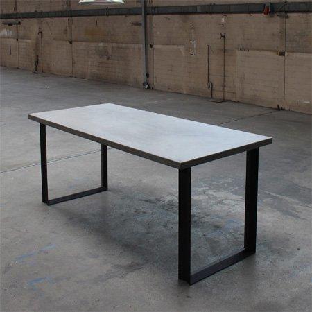 Concrete Table Denver 260x100cm & Concrete Table Denver 260x100cm (dinner table / kitchen table ...