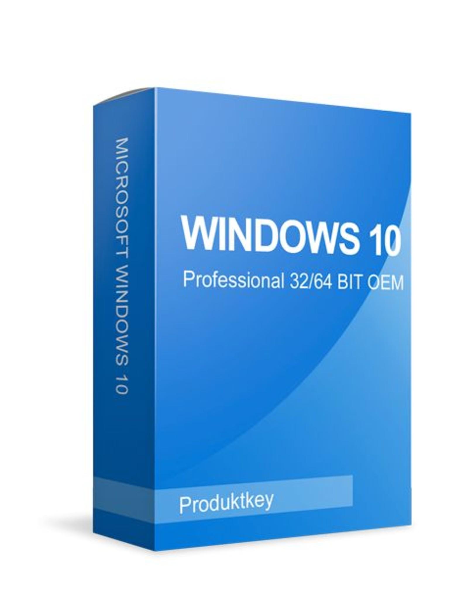 Microsoft Windows 10 Professional alle talen 32/64 bits digitaal levering