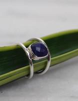 Lapis Cut | zilveren ring