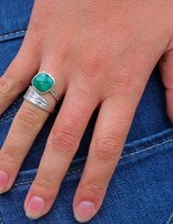 Curvy Emerald Cut | zilveren ring