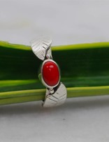 Red Leaf Coral | zilveren ring