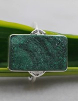 Druzy Malachite | zilveren ring