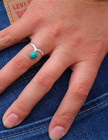 Mystery Turquoise | zilveren ring
