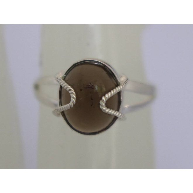 Smokey Quartz | zilveren ring