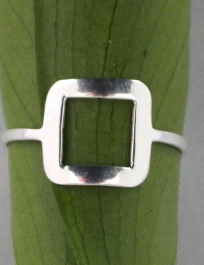 Silver Square | zilveren ring