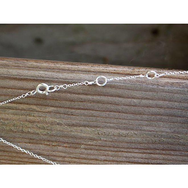 Silver Bar necklace silver| zilveren ketting