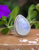 Moonstone Luna | zilveren ring