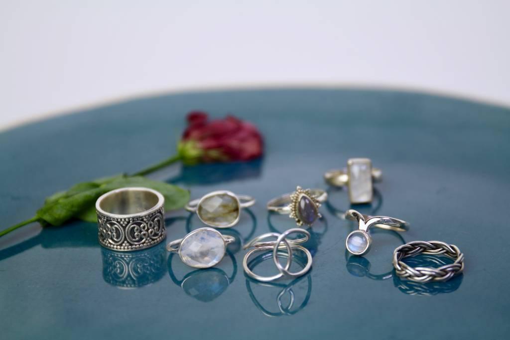 Alle zilveren ringen